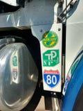Estradas de New-jersey, Turnpike, via pública larga e urbanizada, 80 de um estado a outro, EUA Fotografia de Stock
