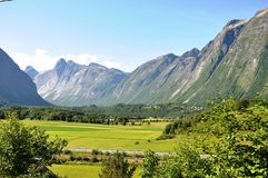 Estradas de Noruega Fotos de Stock Royalty Free