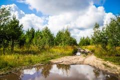 Estradas de terra em Rússia Foto de Stock Royalty Free