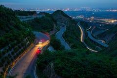 Estradas do montanhês do enrolamento Fotografia de Stock
