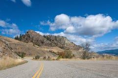 Estradas do vale de Okanagan imagens de stock