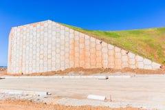 Estradas dos muros de cimento da construção Imagens de Stock
