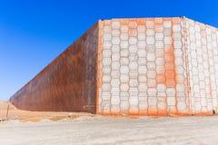 Estradas dos muros de cimento da construção Foto de Stock Royalty Free