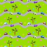 Estradas e carros sem emenda Ilustração Royalty Free