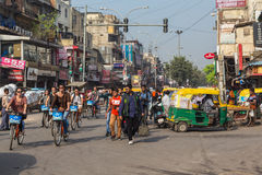 Estradas e ruas de Deli Fotos de Stock Royalty Free