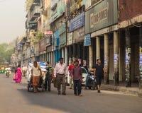 Estradas e ruas em Deli central Foto de Stock Royalty Free