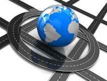 Estradas em torno da terra Fotos de Stock