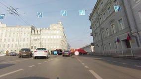 Estradas fechados da polícia em torno do Kremlin filme