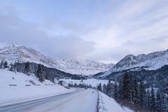Estradas geladas fotos de stock royalty free