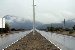 Estradas molhadas Imagens de Stock Royalty Free
