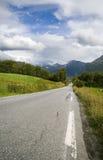 Estradas norueguesas fotografia de stock
