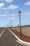 Estradas novas para a área de desenvolvimento em Lanzarote Foto de Stock