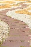 estradas pavimentadas pedra no parque Foto de Stock Royalty Free