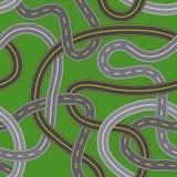 Estradas transversaas ilustração stock