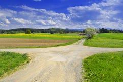 Estradas transversaas Fotografia de Stock