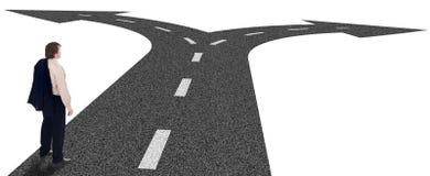 Estradas transversaas do negócio - conceito das decisões Fotos de Stock Royalty Free