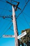 Estradas transversaas Dustan e Ormond imagem de stock royalty free