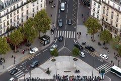 Estradas transversaas e um quadrado pequeno Imagens de Stock