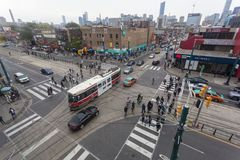 Estradas transversaas em Toronto, Canadá Imagens de Stock Royalty Free