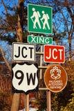 Estradas transversaas na montanha do urso foto de stock royalty free