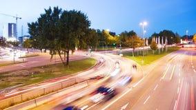 Estradas transversaas na noite video estoque