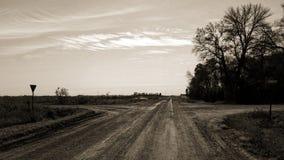 Estradas transversais Fotos de Stock Royalty Free