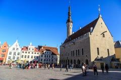 Estradas velhas da cidade em Tallinn Fotos de Stock Royalty Free