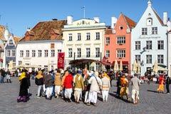 Estradas velhas da cidade em Tallinn Imagem de Stock Royalty Free