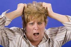 Estraendo capelli Fotografia Stock Libera da Diritti