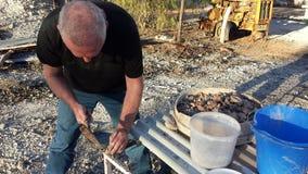 Estraendo gli opale e la vita estraente nell'entroterra Opal Fields di NSW, Nuovo Galles del Sud, Australia Fotografie Stock Libere da Diritti