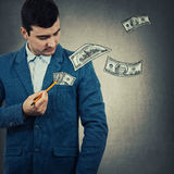 Estragga i vostri soldi Fotografia Stock Libera da Diritti