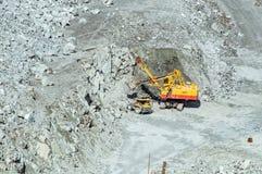 Estragga l'estrazione mineraria dell'amianto, Urals, Russia Fotografia Stock