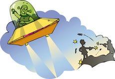 Estrangeiro alienado ilustração stock
