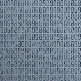 Estrangeiro azul, código de computador incompreensível abstraia o fundo Ataque do cabouqueiro Conceito gerado do código de comput Fotografia de Stock Royalty Free