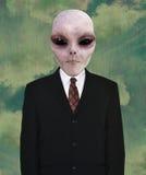Estrangeiro de espaço, terno de negócio, laço fotos de stock royalty free