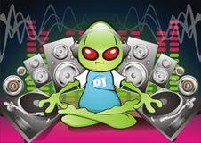 Estrangeiro DJ ilustração stock