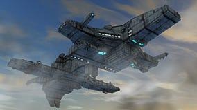 Estrangeiro do UFO da nave espacial Fotografia de Stock Royalty Free
