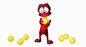 Estrangeiro dos desenhos animados Fotografia de Stock Royalty Free