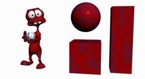 Estrangeiro dos desenhos animados Imagens de Stock