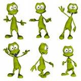 Estrangeiro dos desenhos animados imagens de stock royalty free