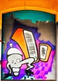 Estrangeiro dos grafittis Fotos de Stock Royalty Free
