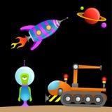 Estrangeiro e espaço dos desenhos animados Foto de Stock