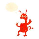 estrangeiro louco dos desenhos animados retros Foto de Stock