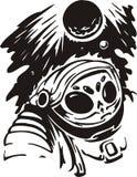 Estrangeiro no capacete. ilustração do vetor