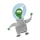 estrangeiro pequeno engraçado dos desenhos animados retros Fotos de Stock