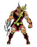 Estrangeiro super ilustrado banda desenhada do bandido Imagem de Stock Royalty Free