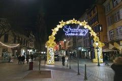 Estrasburgo, capital de la Navidad Imágenes de archivo libres de regalías