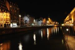 Estrasburgo en la noche Fotografía de archivo