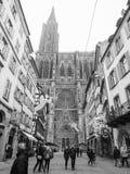 Estrasburgo Francia después de attentados terroristas en el mercado de la Navidad imagen de archivo libre de regalías