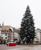 Estrasburgo Francia después de attentados terroristas en el mercado de la Navidad fotos de archivo libres de regalías